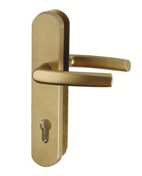 Bezpečnostní kování R111 klika-klika, barva F4 bronz