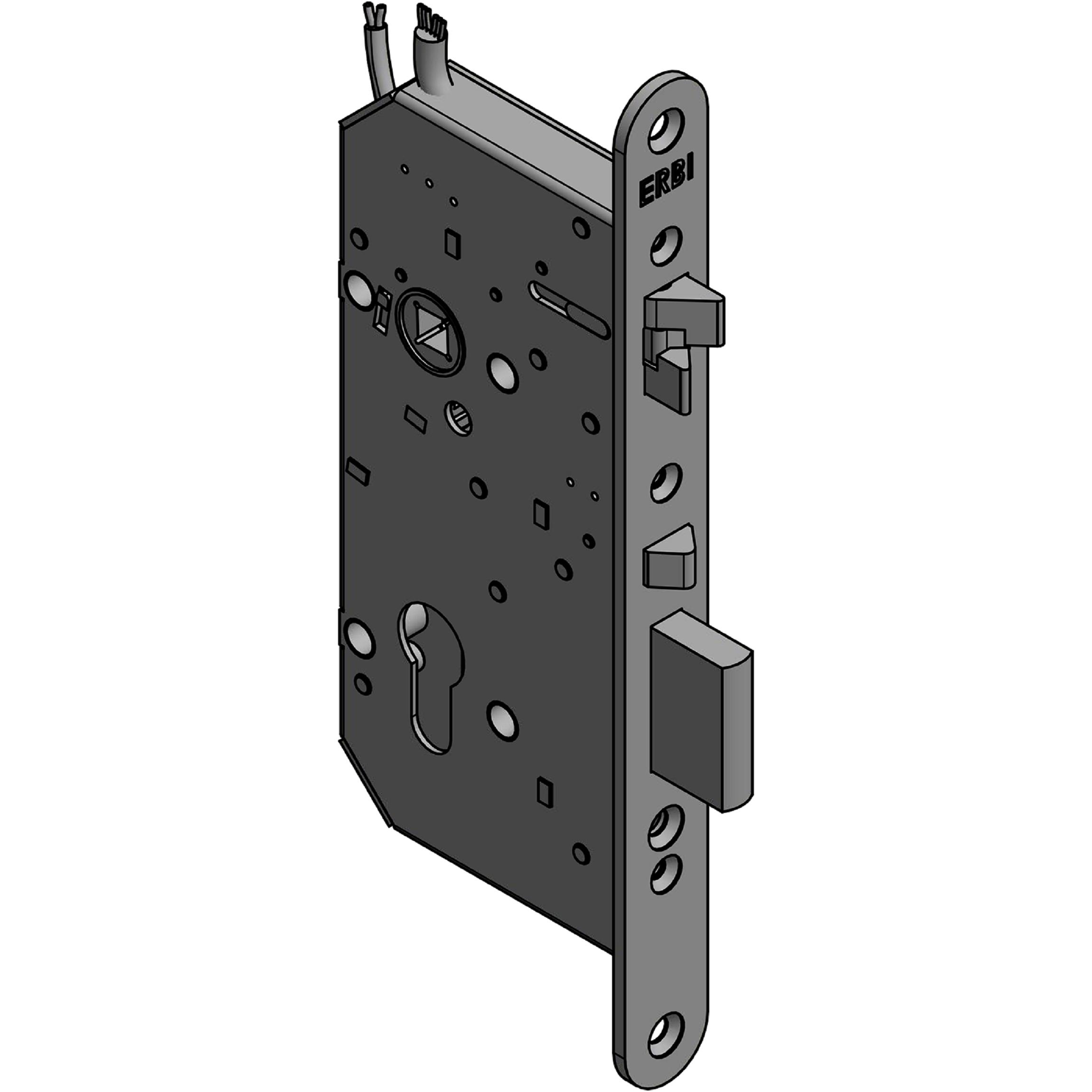 Zadlabací zámek ERBI 72/55 elektromechanický samozamykací