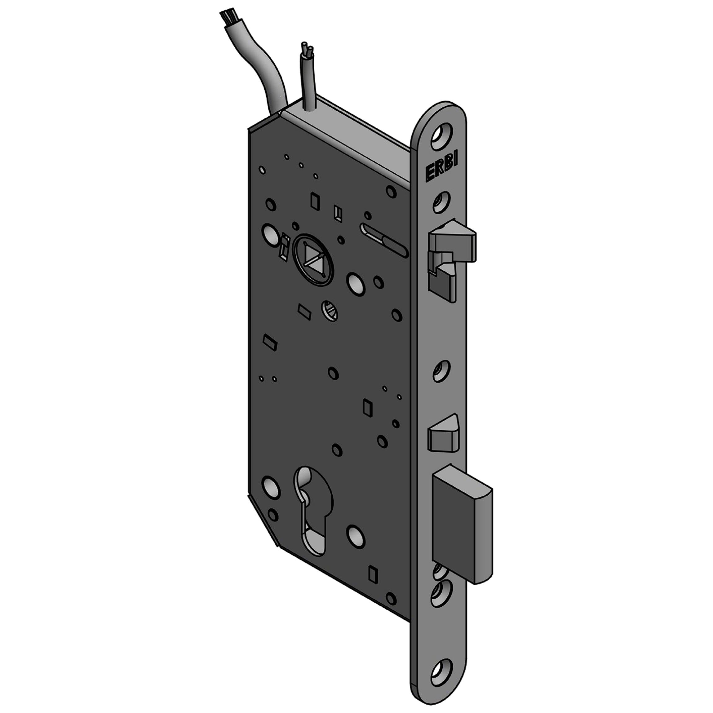Zadlabací zámek ERBI 90/50 elektromechanický samozamykací
