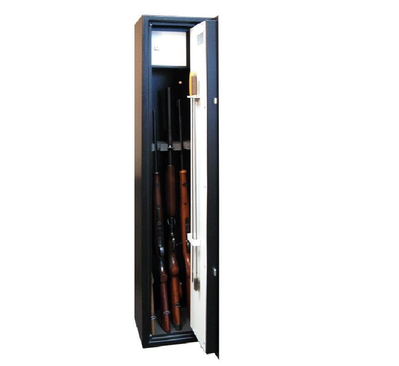 Skříň na zbraně SZ1 - držáky na 4 dlouhé zbraně