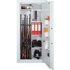 SZ10/5 - držáky na 5 zbraní, ve 2.polovině skříně police
