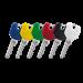 Barevné DESIGN klíče EVVA FPS