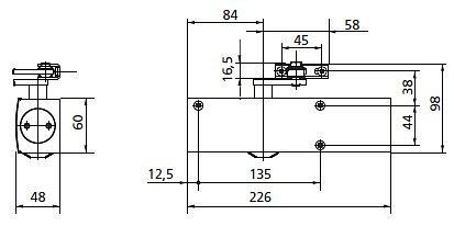 GEZE - technické schéma TS2000