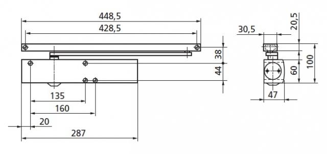 GEZE - technické schéma TS5000