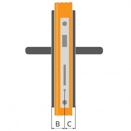 Délka zámkové vložky